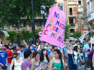Demonstratie 19 juni 2011 Sevilla, Spanje