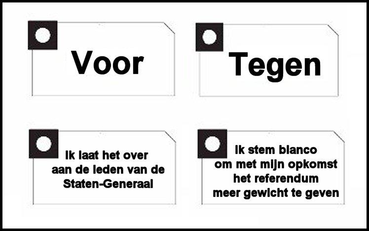 Voorbeeld voor een alternatief stembiljet voor raadgevende referenda